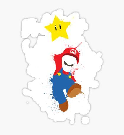 Super Mario Splattery T-Shirt Sticker