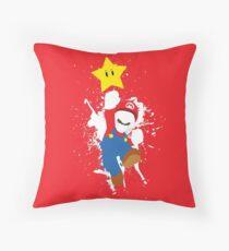 Super Mario Splattery T-Shirt Throw Pillow