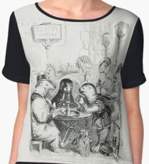 Anthropomorphic Animals by J J Grandville Women's Chiffon Top
