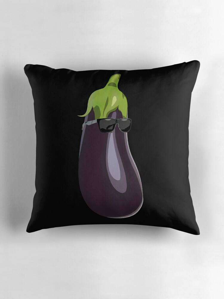 eggplant emoji sunglasses t shirt popular emoticons aubergine by essetino - Popular Throw Pillows