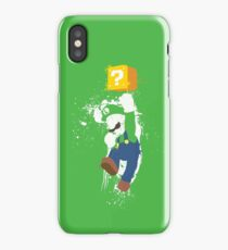 Luigi Paint Splatter Shirt iPhone Case/Skin