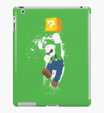 Luigi Paint Splatter Shirt iPad Case/Skin