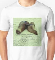 Love soulmates Aristotle quote Unisex T-Shirt