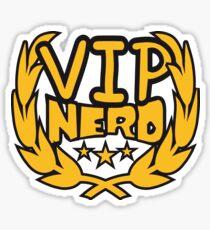 lorbeerkranz nerd geek schlau pixel gamer 8 bit cool design retro alt look gold vip wichtig person  Sticker