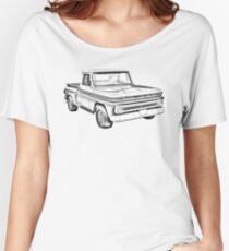 1965 Chevrolet Pickup Truck Illustration Women's Relaxed Fit T-Shirt