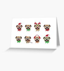 MERRY PUGMAS Greeting Card