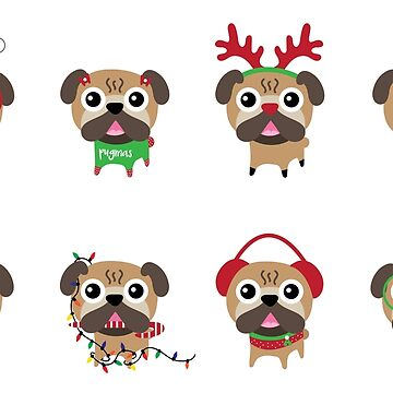 MERRY PUGMAS by skldesign