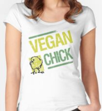Vegan Chick Women's Fitted Scoop T-Shirt