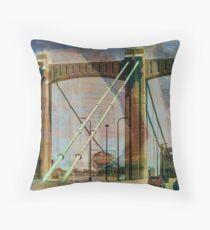 Bridge and Grain Belt Beer Sign Throw Pillow