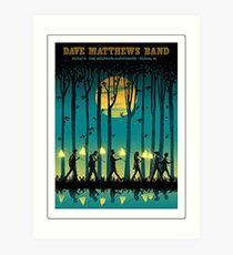 DAVE MATTEWS BAND OAK MOUNTAIN AMPHITHEATRE PELHAM AL. Art Print