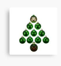 Christmas Bauble Tree 2 Canvas Print