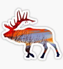 Sunset elk  Sticker