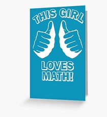 This Girl Loves Math Greeting Card