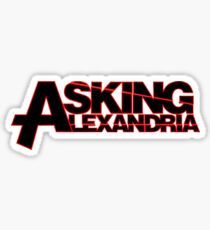 ASKING ALEXANDRIA TOUR 2016 GERRYISKANDAR GI SIX Sticker