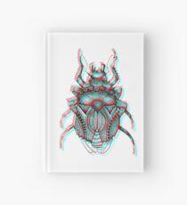 3D Beetle Illustration - Works with 3D glasses!!! Hardcover Journal