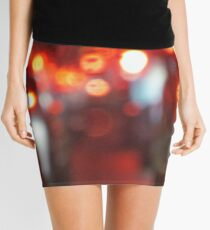 Blurred Street Traffic Mini Skirt