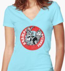 Krampus FanKlub Women's Fitted V-Neck T-Shirt