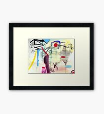 Abstract: Oriental Framed Print