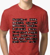 Music genres list Tri-blend T-Shirt