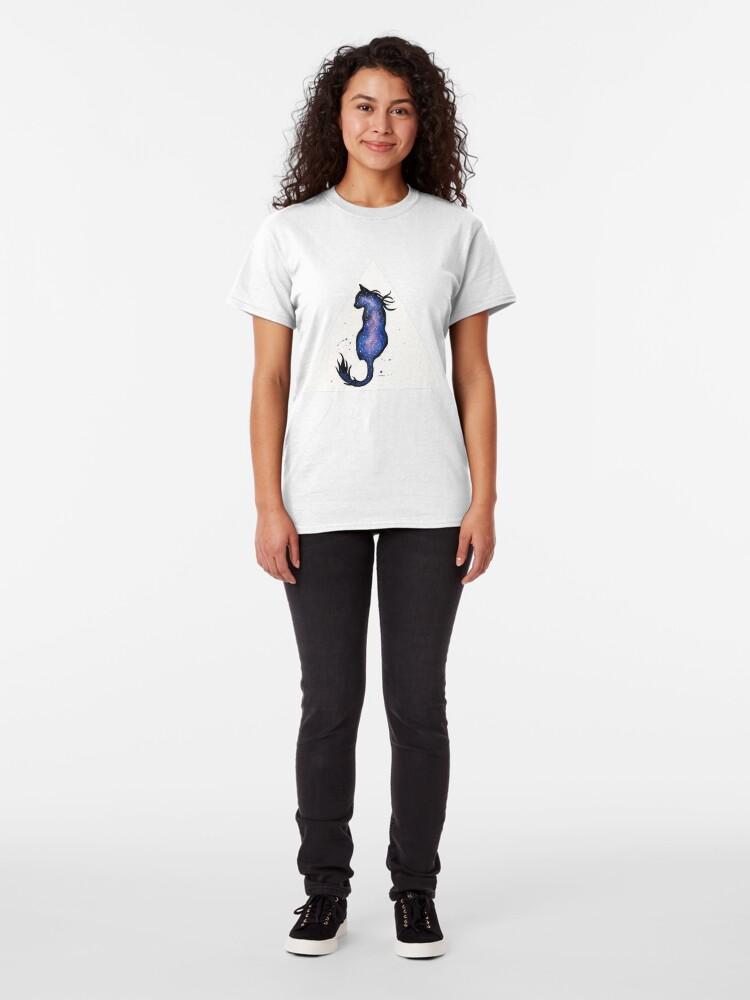 Alternate view of Purple Nebula Cat Classic T-Shirt