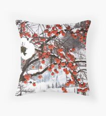 Beautiful Persimmon tree overflowing with fruit! Throw Pillow