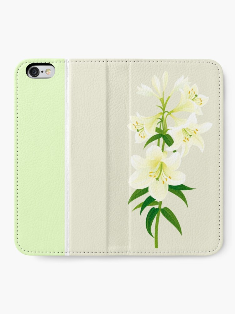 Alternate view of White Lily iPhone Wallet