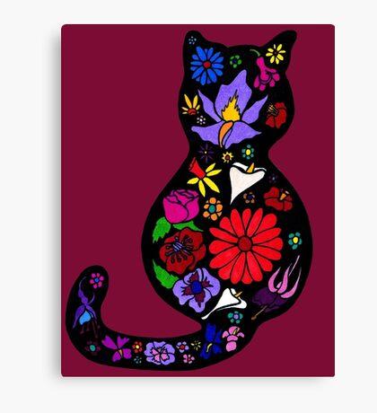 Flower Puss Canvas Print