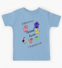 Farmyard Scene brightly coloured for kids and babies Kids Clothes