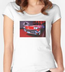 1958 Cadillac Biarritz Women's Fitted Scoop T-Shirt