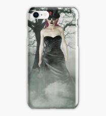 Gothic Girl in Black Day of the Dead iPhone Case/Skin