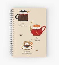 The Golden Tea-o Spiral Notebook