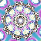 Flower of life crystal mandala by Lilaviolet