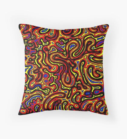 Channel Country - Yellow Throw Pillow
