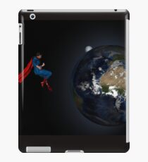 Superman Hovers Above Earth iPad Case/Skin