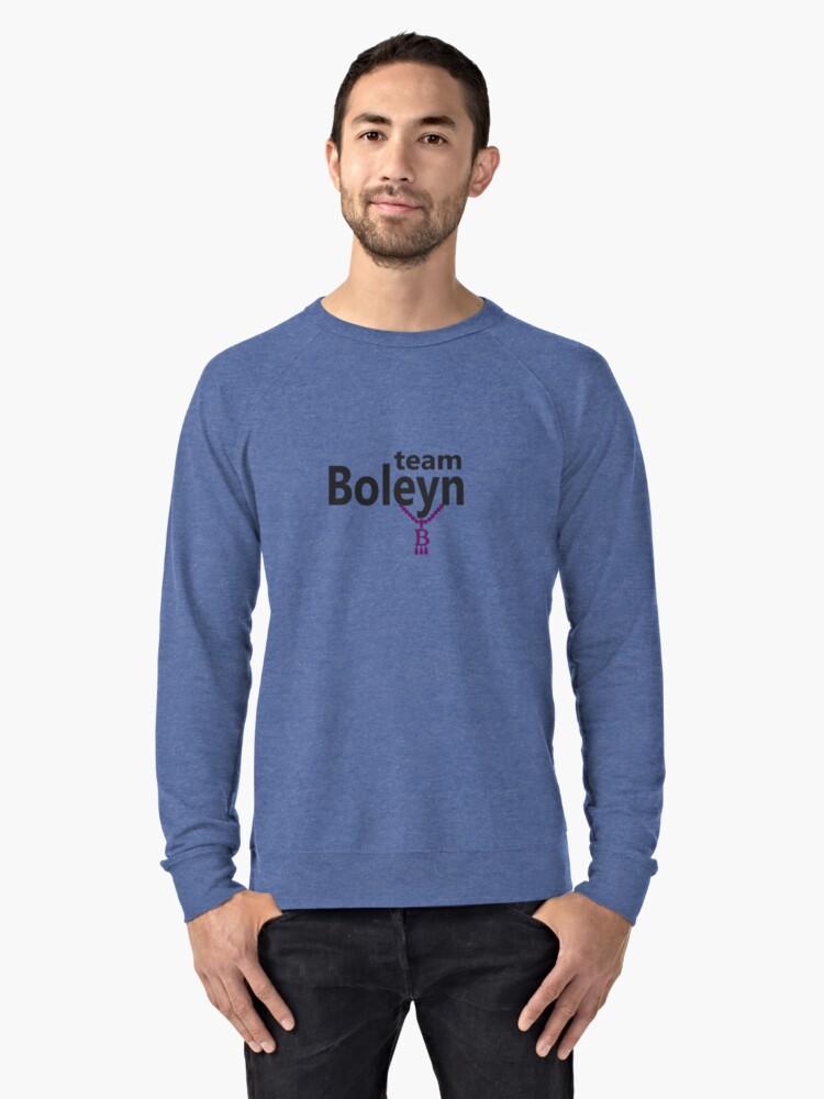 Anne Boleyn 'Team Boleyn' slogan with B necklace Lightweight Sweatshirt Front