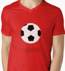 White and Black Soccer Ball Patterned T-Shirt