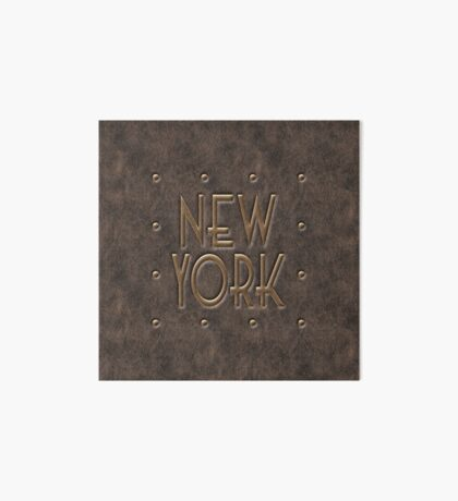 New York, leather and metal Art Board
