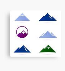 New stylish Hills adventure ICONS Canvas Print