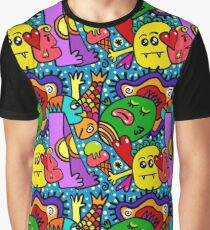 Colorful Psychedelic Monster  Graphic T-Shirt