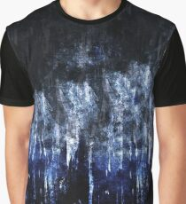 abstract blue black Graphic T-Shirt