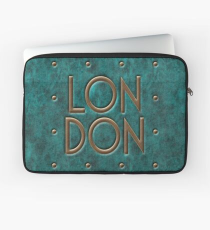 London, leather and metal Laptop Sleeve