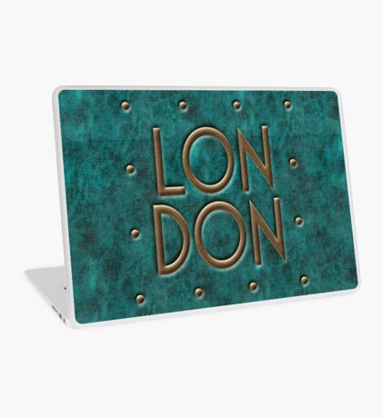 London, leather and metal Laptop Skin
