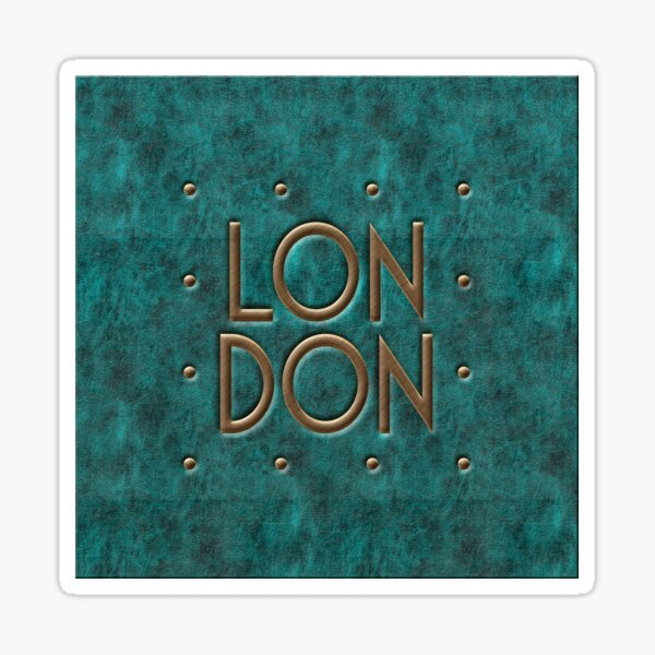London, leather and metal Sticker