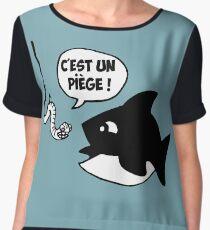 poisson pêcheur humour fun Women's Chiffon Top