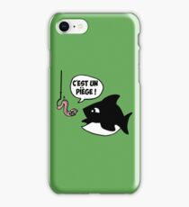 poisson pêcheur humour fun iPhone Case/Skin