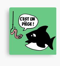 poisson pêcheur humour fun Canvas Print