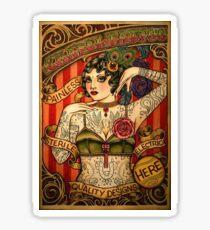 CHAPEL TATTOO; Vintage Body Advertising Art Sticker