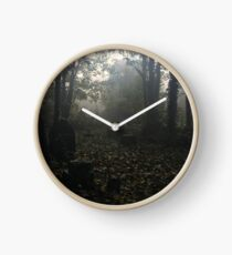Misty graveyard Clock