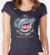Cycling Dad Women's Fitted Scoop T-Shirt