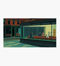 Nighthawks - A Pixel Tribute Photographic Print